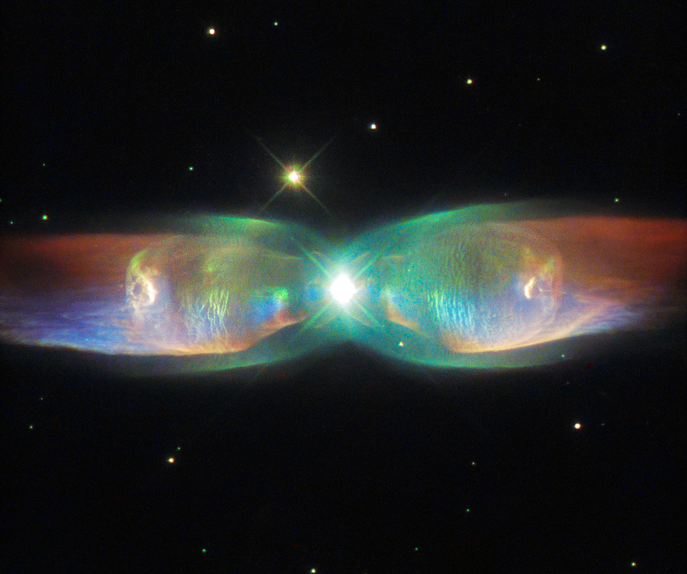 New Hubble image of the Twin Jet Nebula